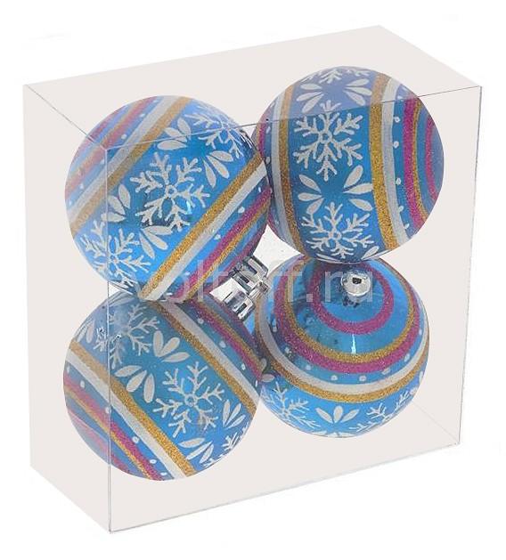 Елочная игрушка Ремеко Набор из 4 елочных шаров (7 см) 696407