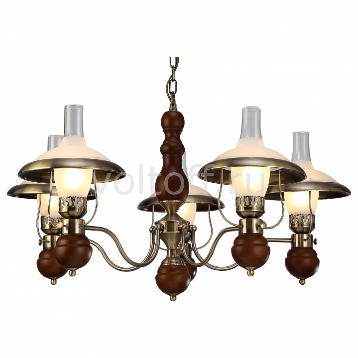 Подвесная люстра Arte LampСветильники под бронзу<br>Артикул - AR_A4533LM-5AB,Серия - Capanna<br>