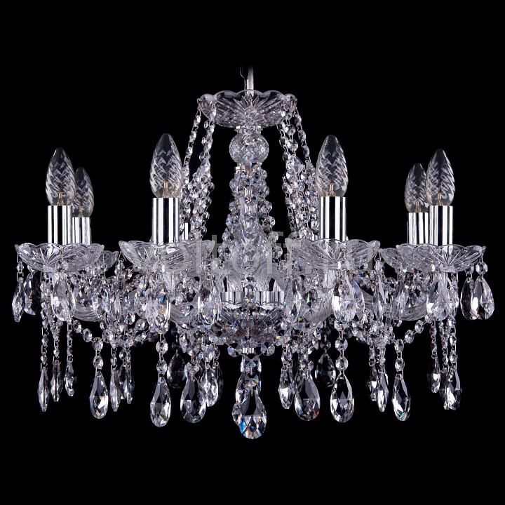 Подвесная люстра Bohemia Ivele CrystalЭлитные светильники<br>Артикул - BI_1413_8_200_Ni,Серия - 1413<br>