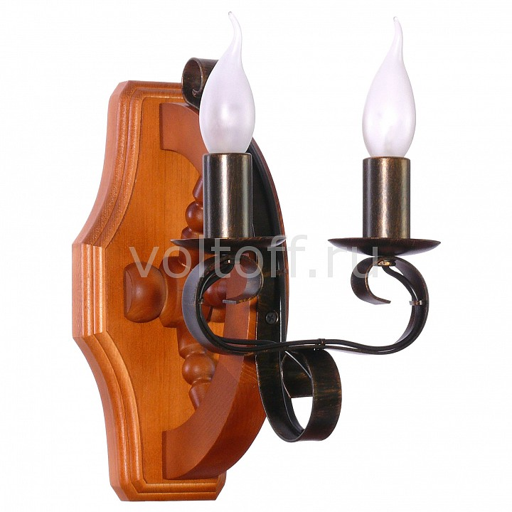 Бра АврораКлассические светильники<br>Артикул - AV_10134-2B,Серия - Румпель<br>