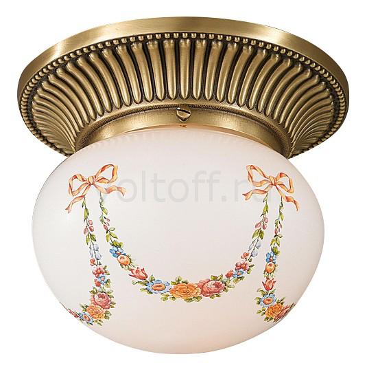 Накладной светильник Reccagni AngeloСветильники под бронзу<br>Артикул - RA_PL_8010_1,Серия - 8010<br>