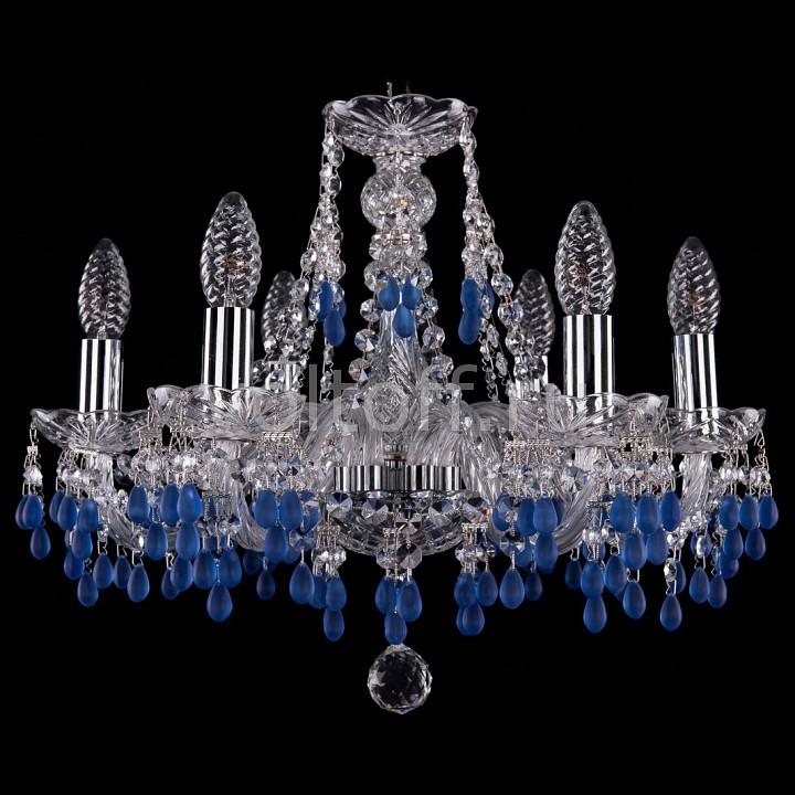 Подвесная люстра Bohemia Ivele CrystalЭлитные светильники<br>Артикул - BI_1410_6_160_Ni_V3001,Серия - 1410<br>
