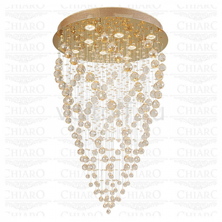 Потолочная люстра ChiaroЭлитные светильники<br>Артикул - CH_384013708,Серия - Каскад 38<br>