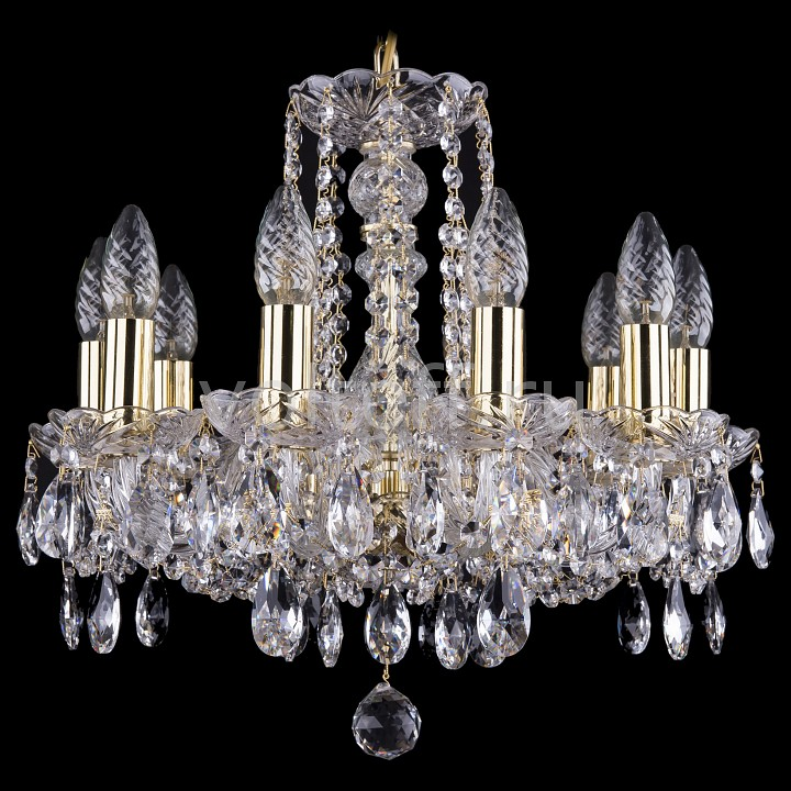 Подвесная люстра Bohemia Ivele CrystalЭлитные светильники<br>Артикул - BI_1402_10_141_G,Серия - 1402<br>