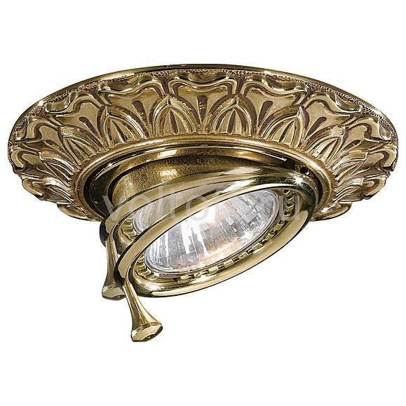 Встраиваемый светильник Reccagni AngeloКлассические потолочные светильники<br>Артикул - RA_SPOT_1085_ORO,Серия - 1085<br>
