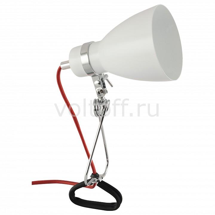 Настольная лампа Arte LampМеталлические светильники<br>Артикул - AR_A1409LT-1WH,Серия - Dorm<br>