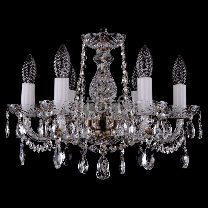 Подвесная люстра Bohemia Ivele CrystalЭлитные светильники<br>Артикул - BI_1402_6_141_Pa,Серия - 1402<br>