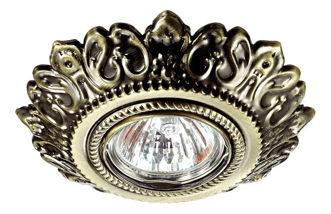 Встраиваемый светильник NovotechСветильники под бронзу<br>Артикул - NV_370260,Серия - Forza<br>