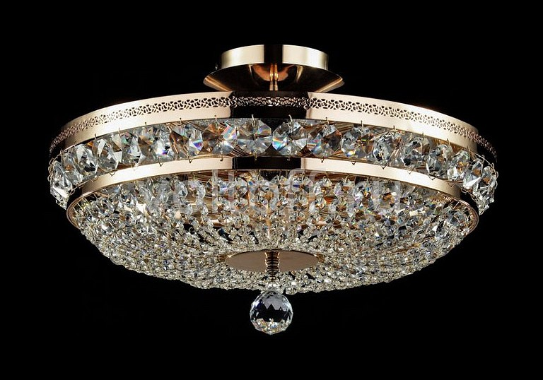 Люстра на штанге MaytoniЭлитные светильники<br>Артикул - MY_P700-PT45-G,Серия - Diamant 4<br>