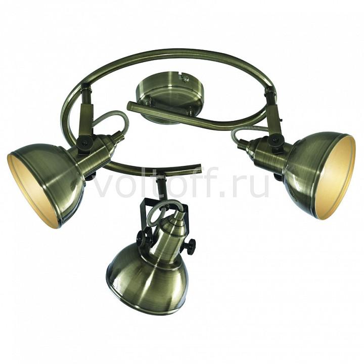 Спот Arte LampСветильники под бронзу<br>Артикул - AR_A5215PL-3AB,Серия - Martin<br>