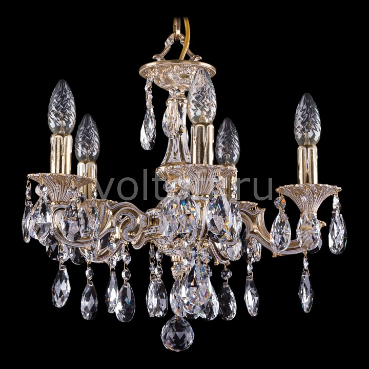 Подвесная люстра Bohemia Ivele CrystalЭлитные светильники<br>Артикул - BI_1707_5_125_A_GW,Серия - 1707<br>
