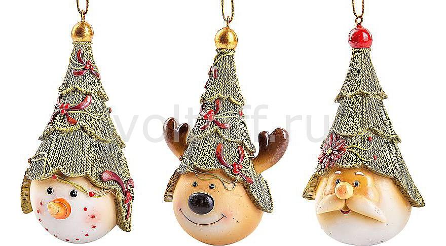 Mister Christmas Набор новогодних шаров из 3 штук (10 см) SM-SET3