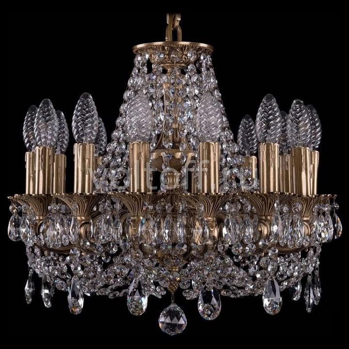 Подвесная люстра Bohemia Ivele CrystalЭлитные светильники<br>Артикул - BI_1707_14_125_C_FP,Серия - 1707<br>