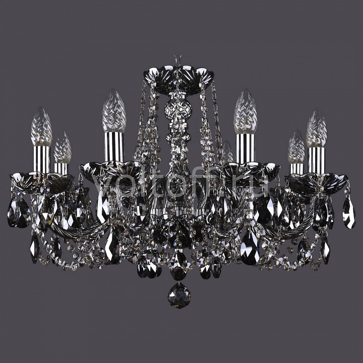 Подвесная люстра Bohemia Ivele CrystalЭлитные светильники<br>Артикул - BI_1402_8_195_Ni_M781,Серия - 1402<br>