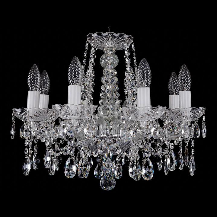 Подвесная люстра Bohemia Ivele CrystalЭлитные светильники<br>Артикул - BI_1413_8_165_Ni,Серия - 1413<br>