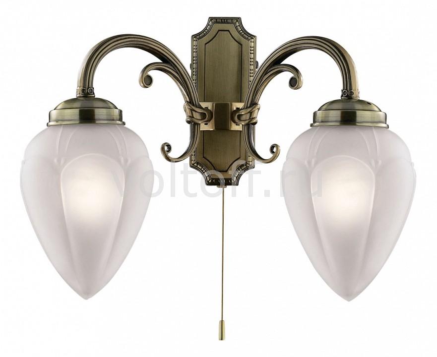 Бра Odeon LightСветильники под бронзу<br>Артикул - OD_1990_2W,Серия - Ovale<br>