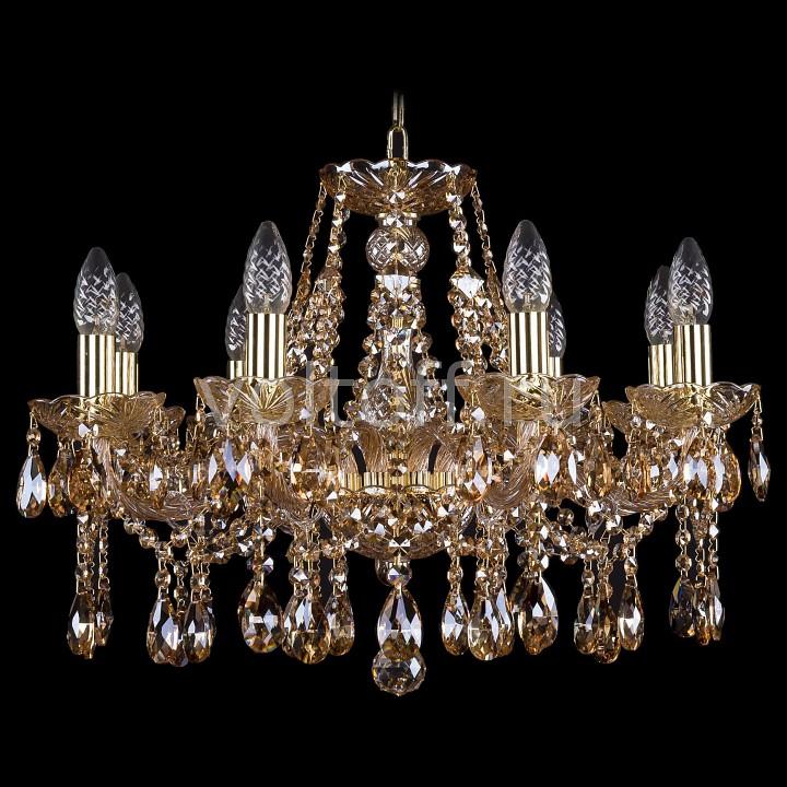 Подвесная люстра Bohemia Ivele CrystalЭлитные светильники<br>Артикул - BI_1413_8_200_G_M721,Серия - 1413<br>