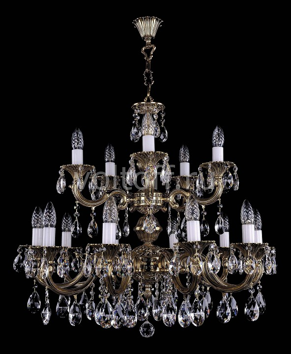 Купить Освещение для дома Подвесная люстра 1702/10+5/A/GB  Подвесная люстра 1702/10+5/A/GB