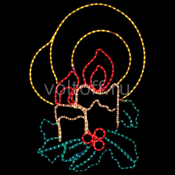 Панно световое (75x10 см) Две свечи NN-501 501-320 от Voltoff
