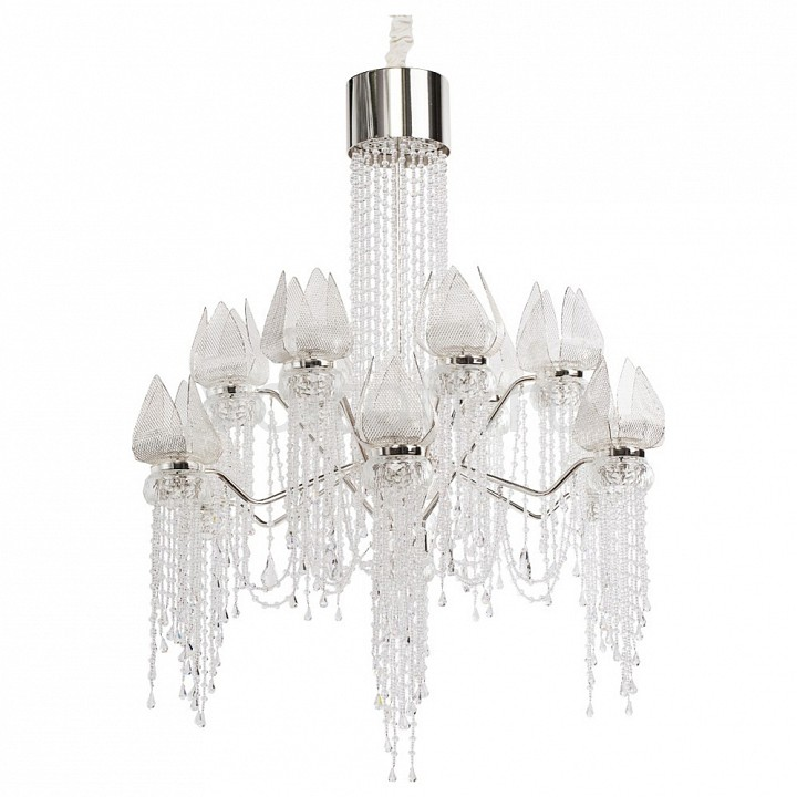 Подвесная люстра ChiaroЭлитные светильники<br>Артикул - CH_625010228,Серия - Лотос в водопаде<br>