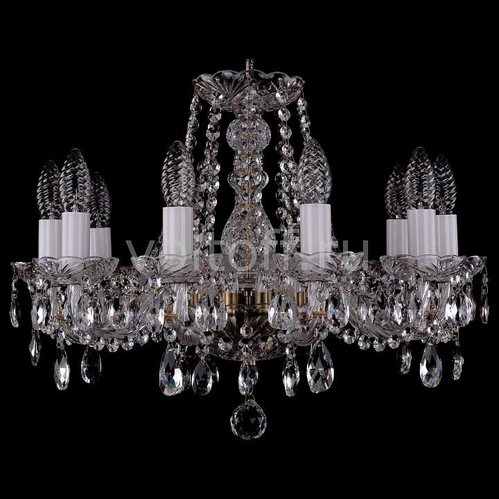 Подвесная люстра Bohemia Ivele CrystalЭлитные светильники<br>Артикул - BI_1402_10_160_Pa,Серия - 1402<br>