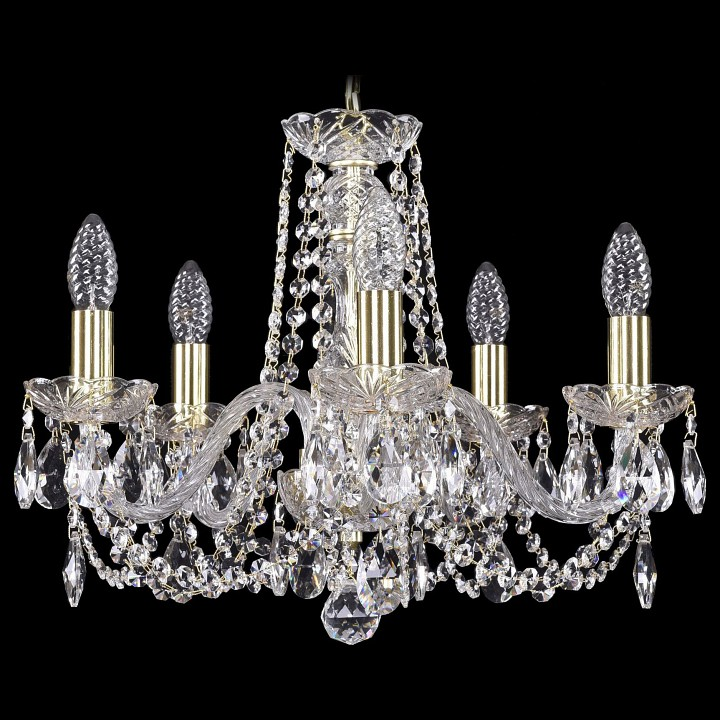 Подвесная люстра Bohemia Ivele CrystalЭлитные светильники<br>Артикул - BI_1402_5_160,Серия - 1402<br>