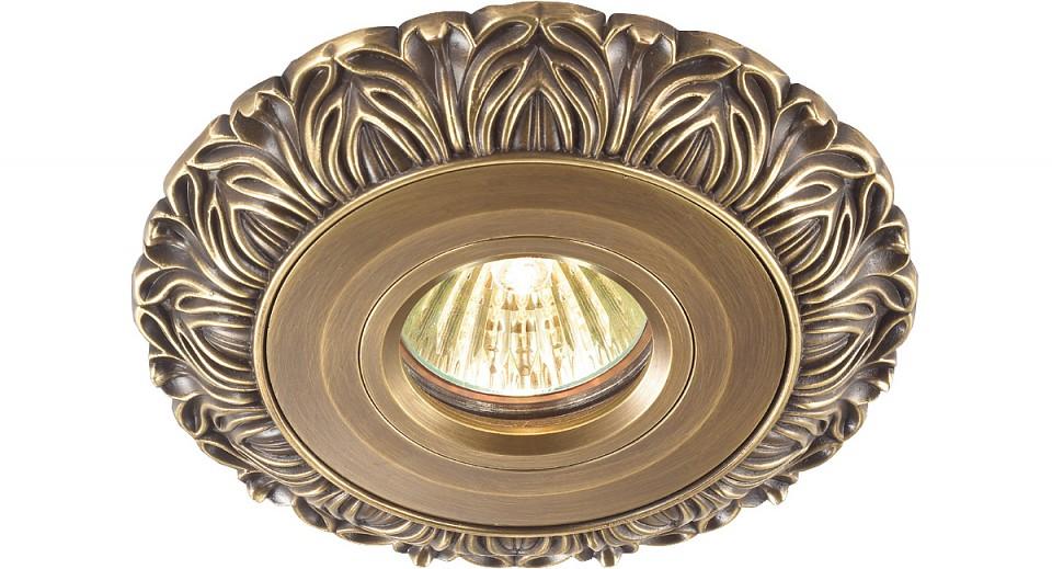 Встраиваемый светильник NovotechСветильники под бронзу<br>Артикул - NV_369945,Серия - Vintage<br>