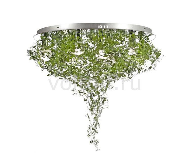 Потолочная люстра Luce Solara - Luce SolaraМеталлические светильники<br>Артикул - LC_9010_9PL_Green,Серия - 9010<br>