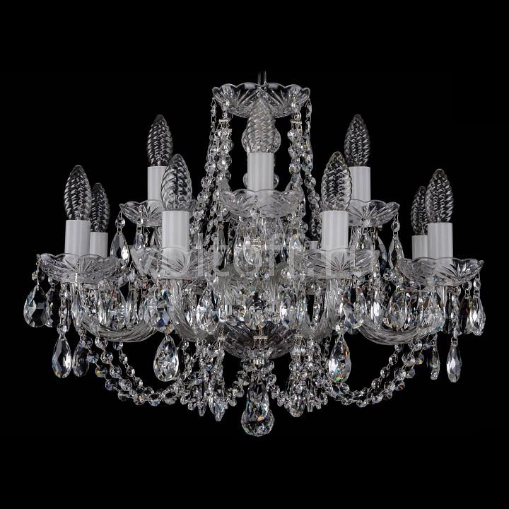 Подвесная люстра Bohemia Ivele CrystalЭлитные светильники<br>Артикул - BI_1406_8_4_195_Ni,Серия - 1406<br>