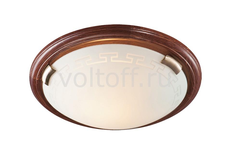 Накладной светильник SonexСветильники под бронзу<br>Артикул - SN_360,Серия - Greca Wood<br>
