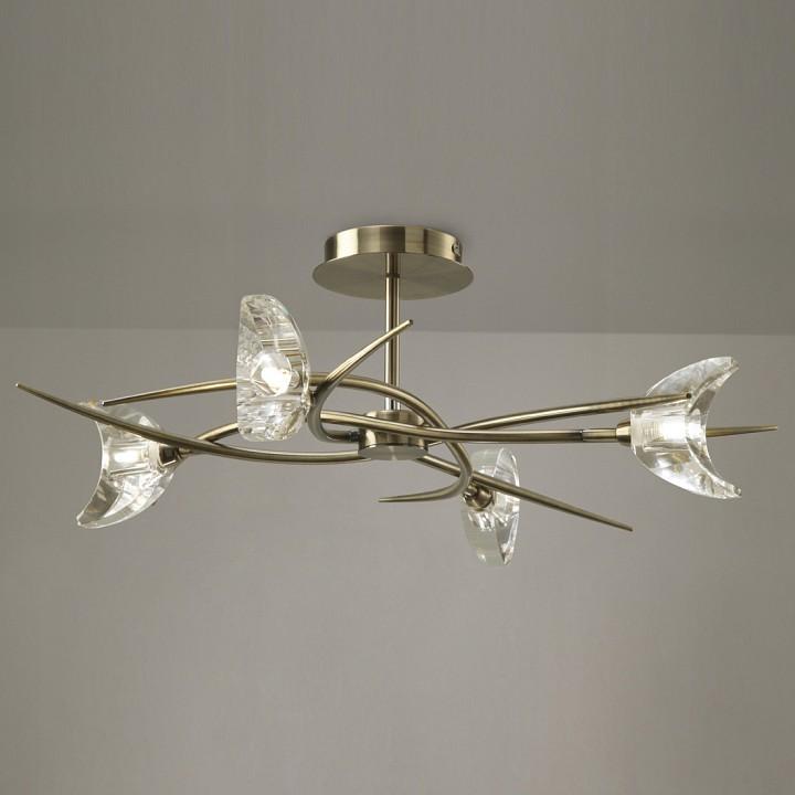 Люстра на штанге MantraПотолочные светильники модерн<br>Артикул - MN_1474,Серия - Eclipse Antique Brass<br>