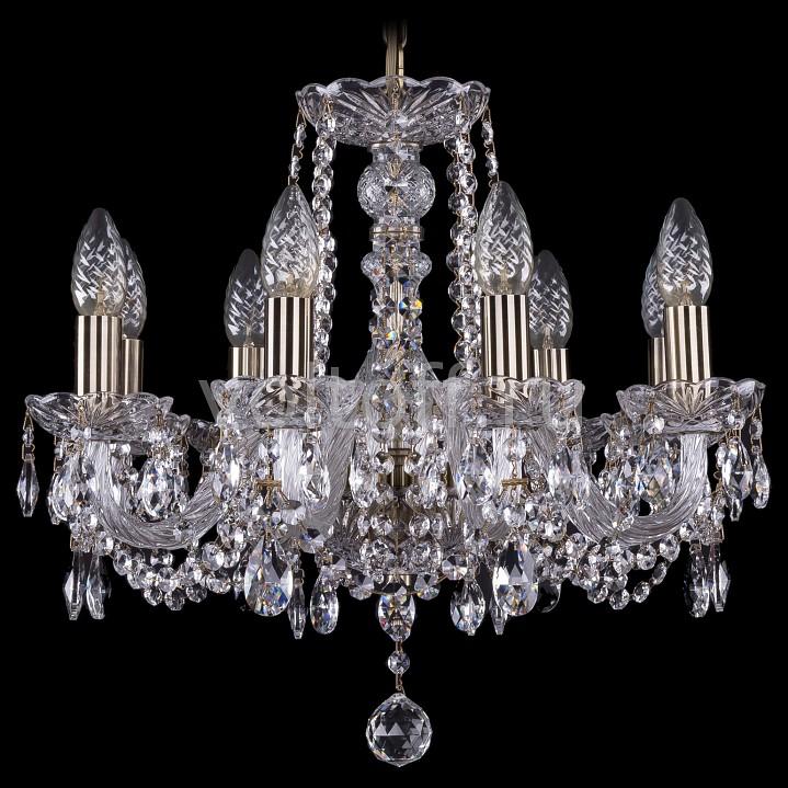 Подвесная люстра Bohemia Ivele CrystalЭлитные светильники<br>Артикул - BI_1402_8_160_Pa,Серия - 1402<br>