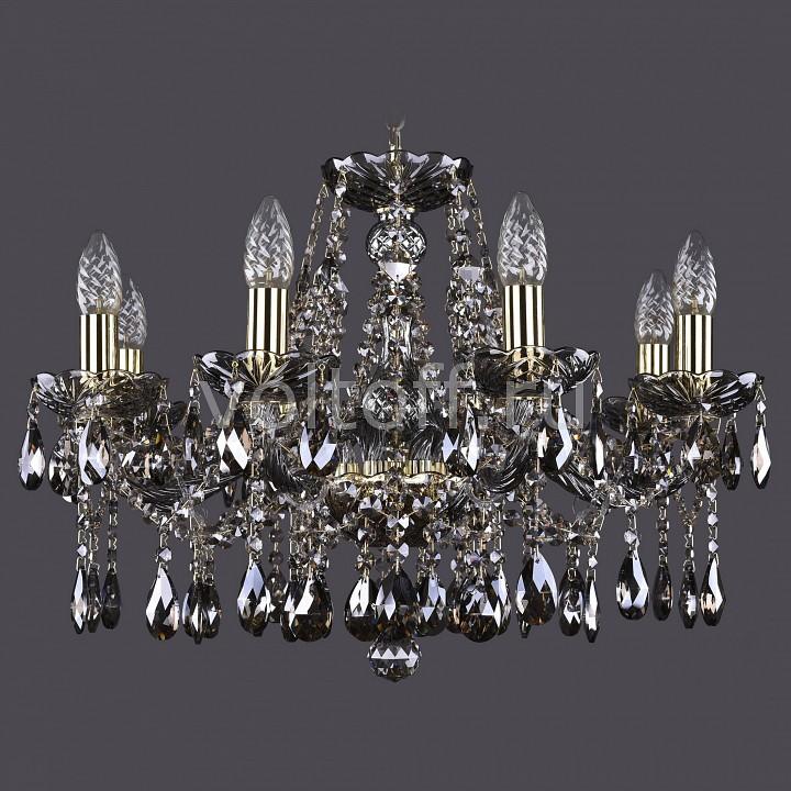 Подвесная люстра Bohemia Ivele CrystalЭлитные светильники<br>Артикул - BI_1413_8_200_G_M731,Серия - 1413<br>