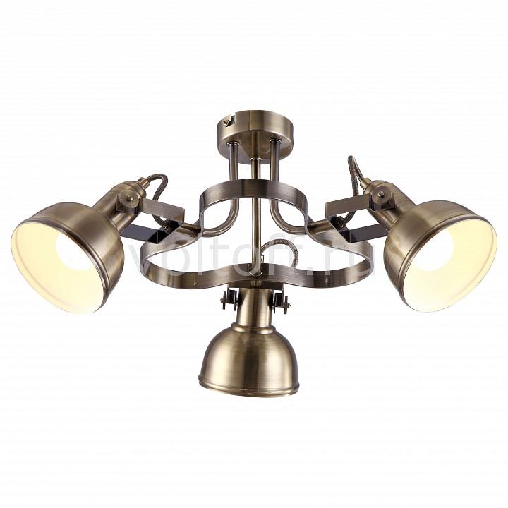 Спот Arte LampСветильники под бронзу<br>Артикул - AR_A5216PL-3AB,Серия - Martin<br>