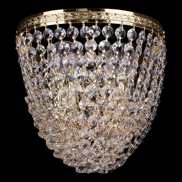 Накладной светильник Bohemia Ivele CrystalЭлитные светильники<br>Артикул - BI_1932_2_GD,Серия - 1932<br>