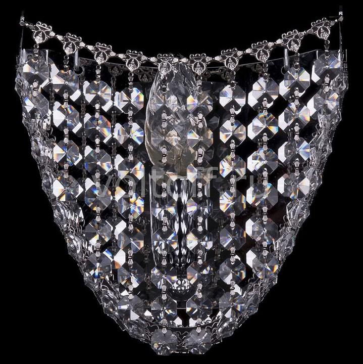 Накладной светильник Bohemia Ivele CrystalЭлитные светильники<br>Артикул - BI_7708_1_W_Ni,Серия - 7708<br>