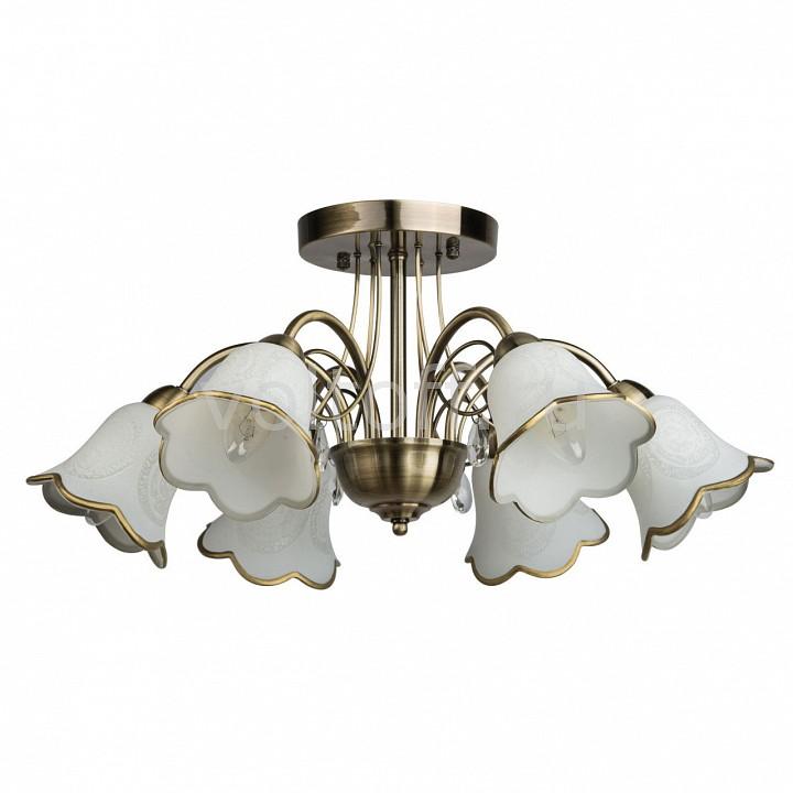 Люстра на штанге De MarktСветильники под бронзу<br>Артикул - MW_256018706,Серия - Флора 12<br>