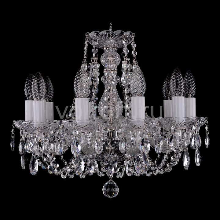 Подвесная люстра Bohemia Ivele CrystalЭлитные светильники<br>Артикул - BI_1406_10_141_Ni,Серия - 1406<br>