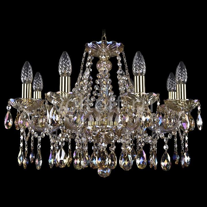 Подвесная люстра Bohemia Ivele CrystalЭлитные светильники<br>Артикул - BI_1413_8_200_G_M701,Серия - 1413<br>