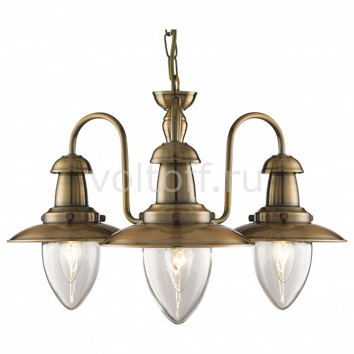 Подвесная люстра Arte LampСветильники под бронзу<br>Артикул - AR_A5518LM-3RB,Серия - Fisherman<br>