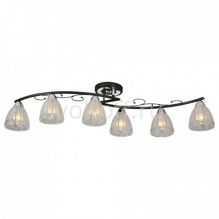 Потолочная люстра IDLampПотолочные светильники модерн<br>Артикул - ID_232_6PF-Blackchrome,Серия - 232<br>