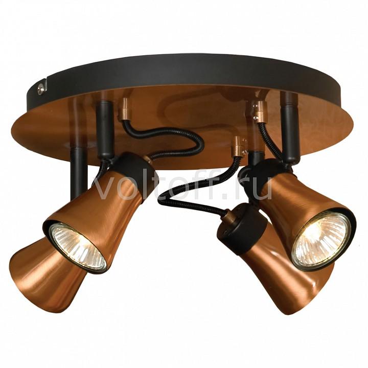 Спот LussoleМеталлические светильники<br>Артикул - LSL-6801-04,Серия - Loft<br>