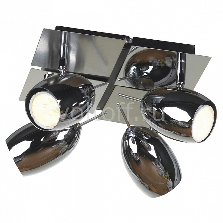 Спот LussoleМеталлические светильники<br>Артикул - LSN-4301-04,Серия - Baron<br>
