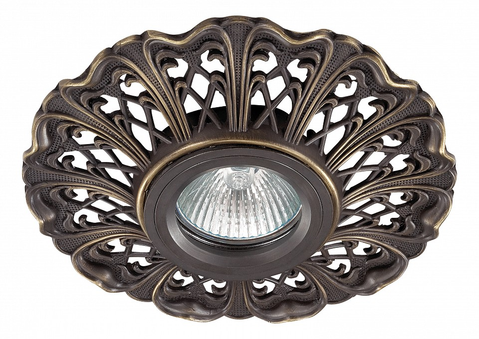 Встраиваемый светильник NovotechСветильники под бронзу<br>Артикул - NV_370031,Серия - Vintage<br>