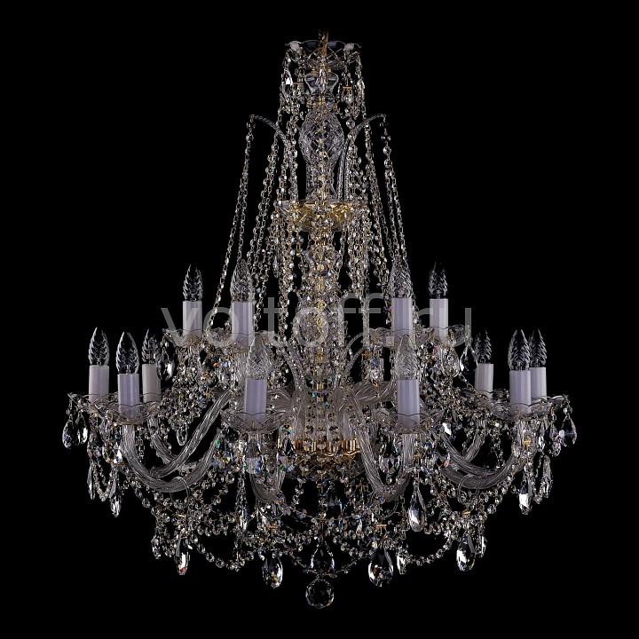 Подвесная люстра Bohemia Ivele CrystalЭлитные светильники<br>Артикул - BI_1411_10_5_300_G,Серия - 1411<br>
