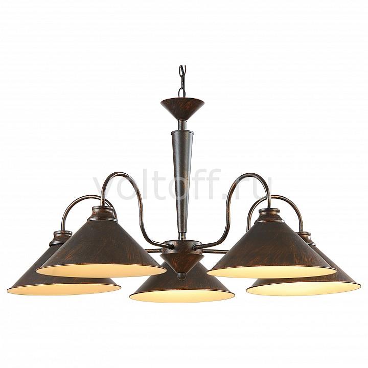 Подвесная люстра Arte LampМеталлические светильники<br>Артикул - AR_A9330LM-5BR,Серия - Cone<br>
