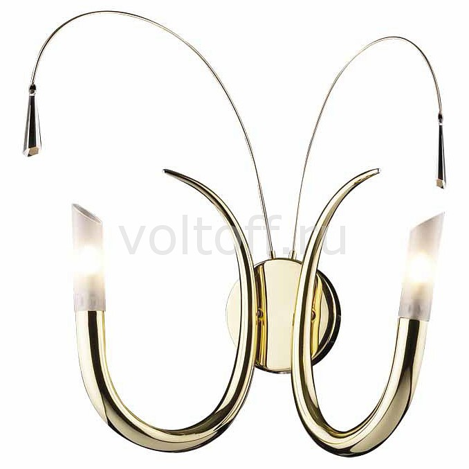 Бра Odeon LightГалогеновые настенные светильники<br>Артикул - OD_1615_2W,Серия - Davida<br>