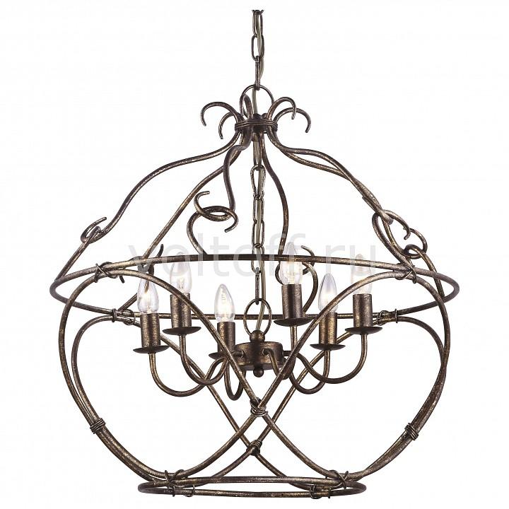 Подвесная люстра Arte LampКлассические потолочные светильники<br>Артикул - AR_A8960SP-6GA,Серия - Bellator<br>