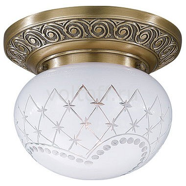 Накладной светильник Reccagni AngeloСветильники под бронзу<br>Артикул - RA_PL_7740_1,Серия - 7740<br>