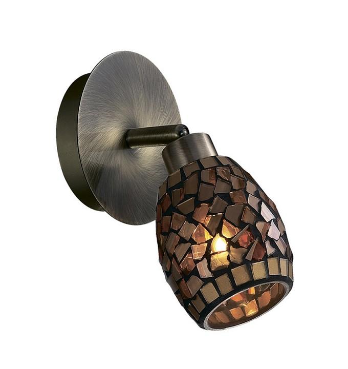 Спот Odeon LightСветильники под бронзу<br>Артикул - OD_2167_1W,Серия - Glosse<br>